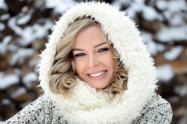 woman bundled up in cold weather
